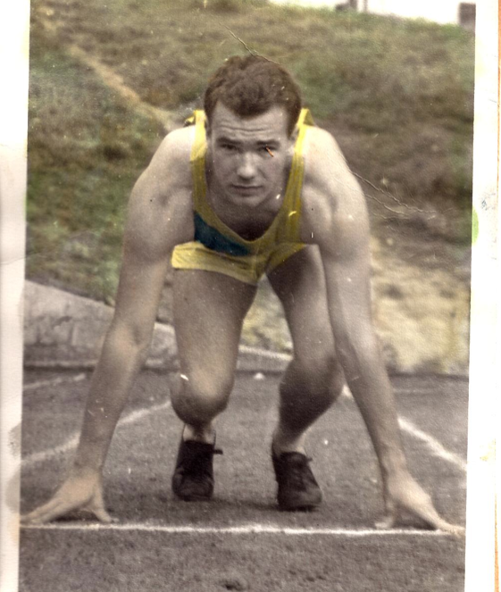 Genes - my grandfather, who ran for Emory Track and Field back in the day -- cool pic, huh?