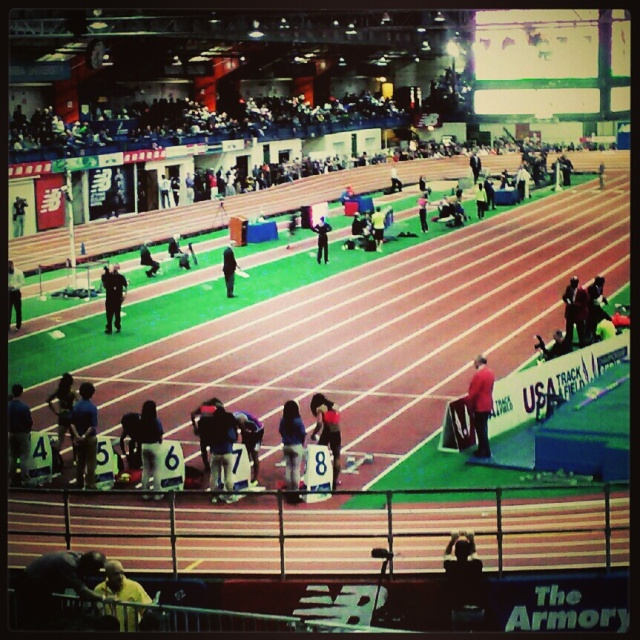 This is a 200 m indoor banked track. I got that far.
