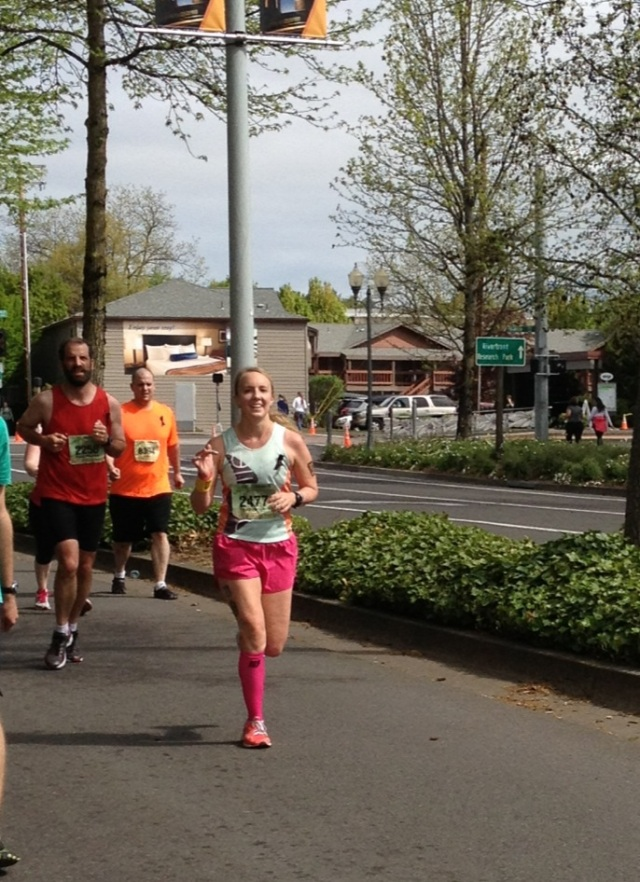 Heyo, mile 26! Thanks, Steph, for the photo!