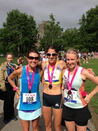 With two of my running faves, Steph and Gia. And, looks like someone forgot their sunnies!