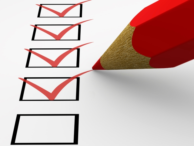 My guiding principle in life. The almighty checklist.