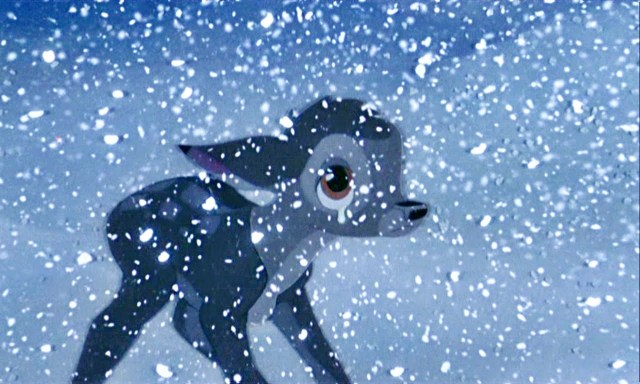 Bambi Crying in Snow